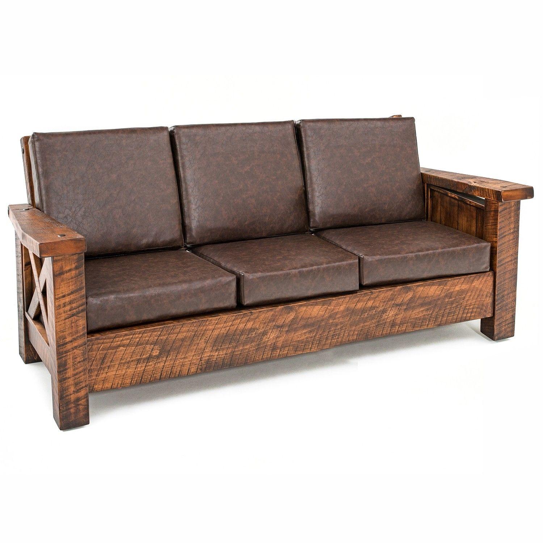 Western Winds Weathered Wood Sofa Wood Sofa Rustic Outdoor