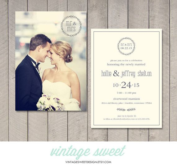 Outdoor Wedding Ceremony Omaha Ne: Modern Wedding Reception Invitation (Printable) By Vintage