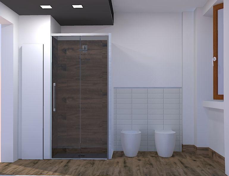 Bagno Progetto ~ Arredamento bagno decapé costruito in legno su misura con