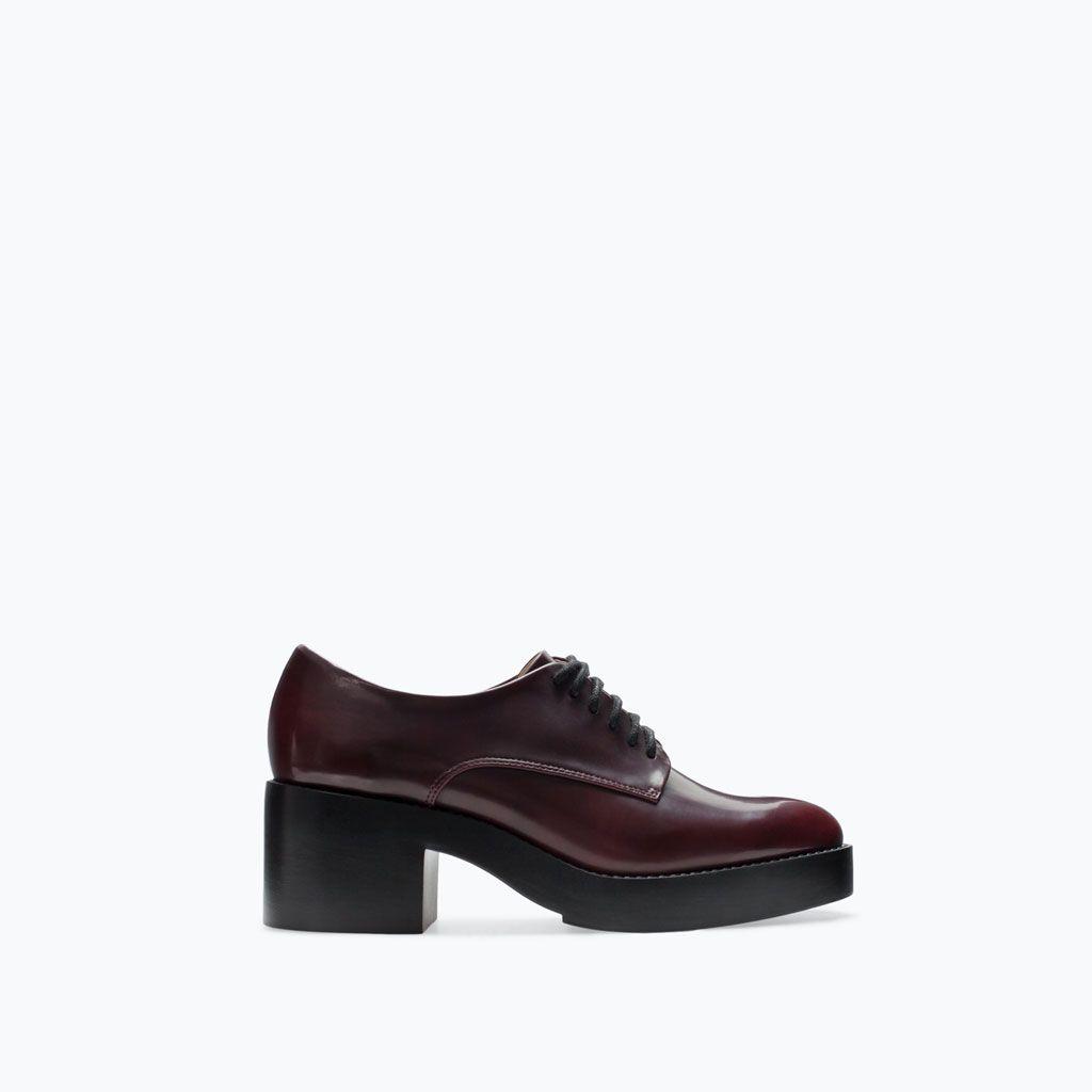 94e28b9970 PLATFORM BLUCHER   shoes   Shoes, Zara shoes, Zara