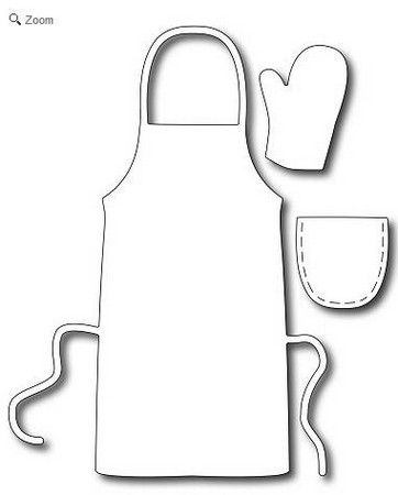 Frantic Stamper Precision Die , Barbecue Outfit (set of 2 dies),Made in the  USA. Featuring a fun large apron and a mitt x this di