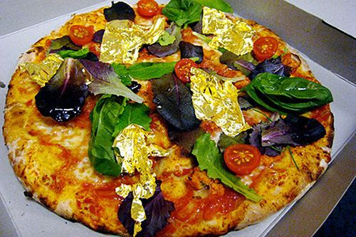 Image result for White truffle and Gold Pizza at Margo's, Malta
