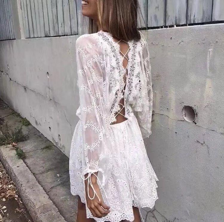 knee length white summer beach dress