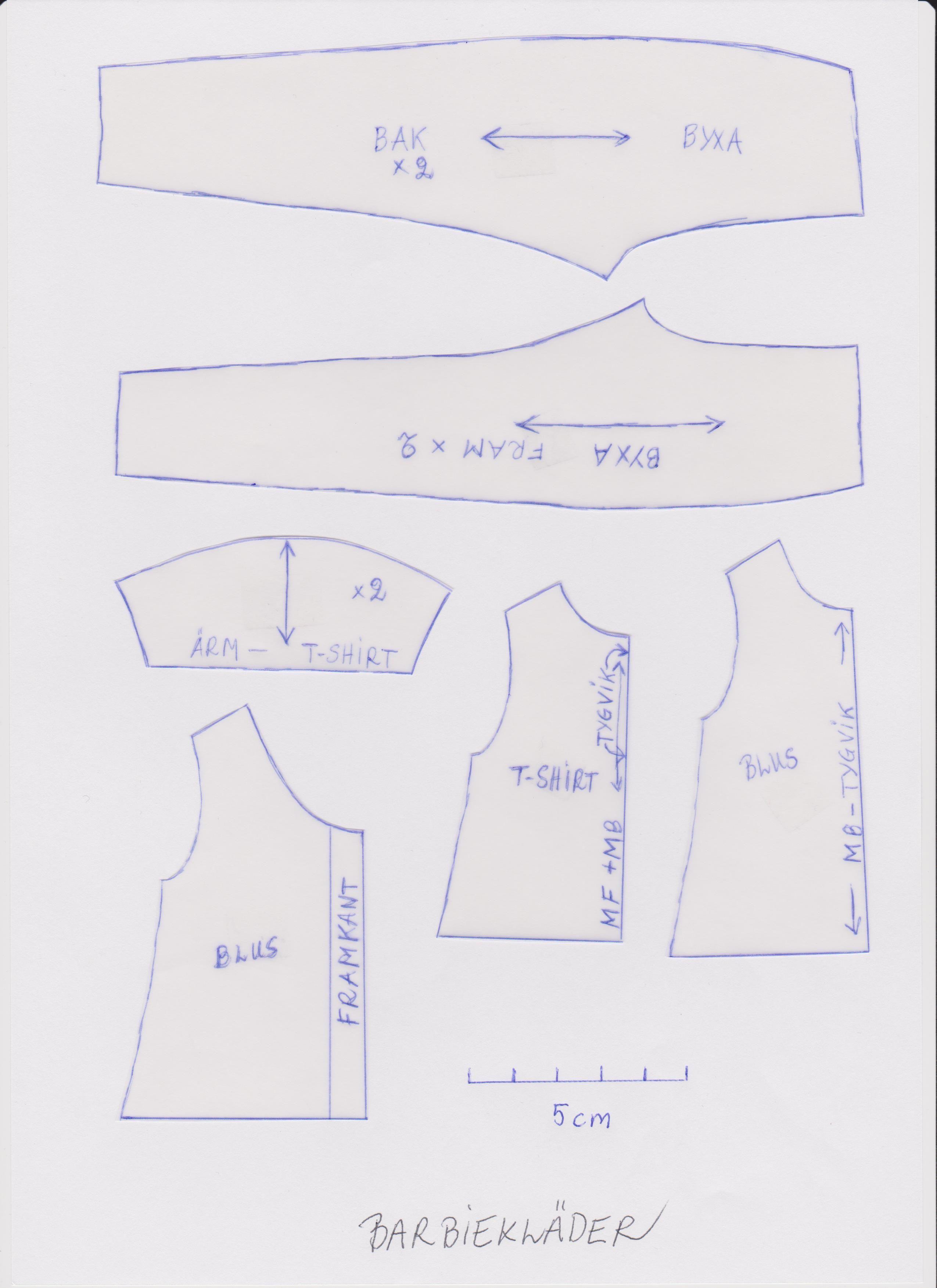 Barbie pattern scan by Caroli | Ken and Big Jim Action Man and ...