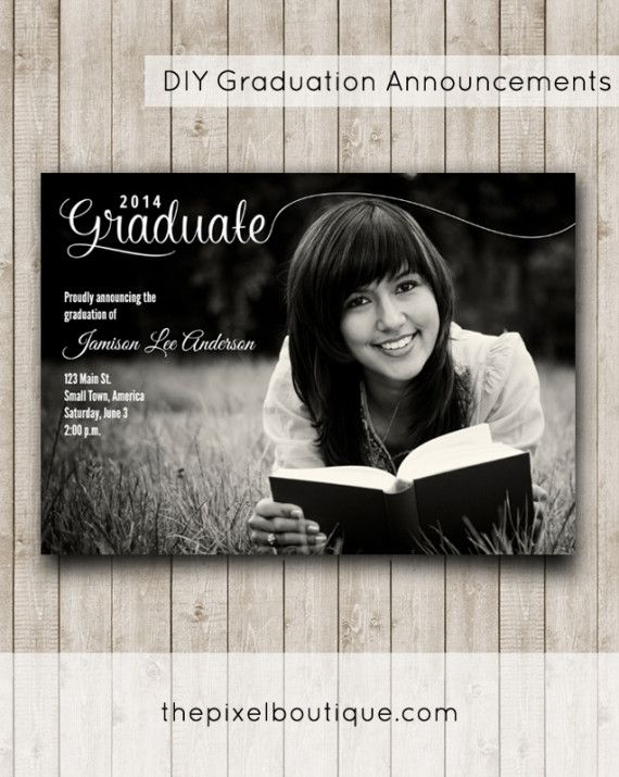 DIY Graduation Announcements Make This Design for FREE