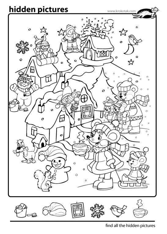 Pin De Lourdes Oquendo En Passatempo Objetos Escondidos Actividades De Navidad Actividades