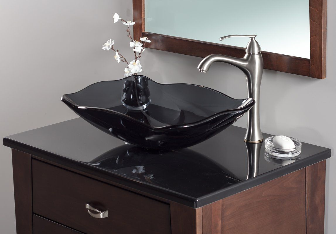 Oblong Glass Vessel Bathroom Sink Unique Bathroom Sinks