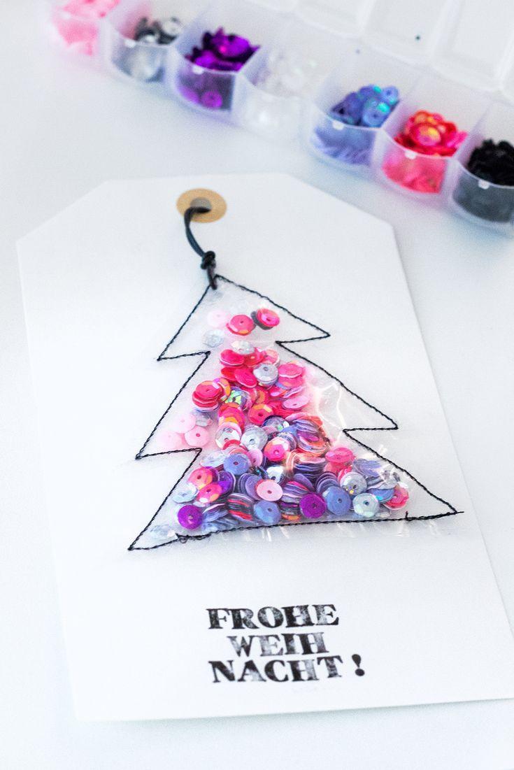 Pailletten-Kissen als geniales Fotogeschenk & DIY Karte #weihnachtsgeschenkeselbermachen