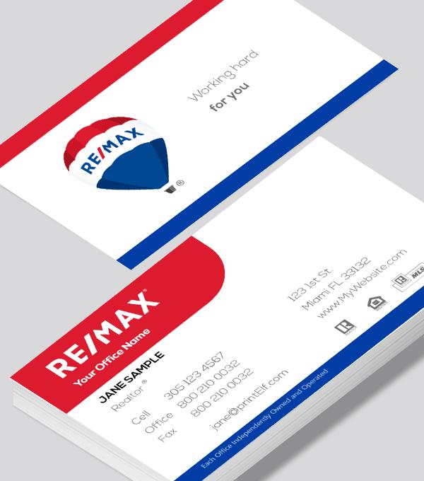 Modern Contemporary Business Card Design Remax Red Blue Business Card Blue Business Card Modern Business Cards Design Business Card Modern