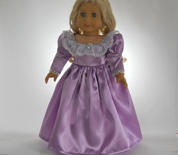 American Girl doll clothes, Lavender Gown Full Length Dress, 04-0128