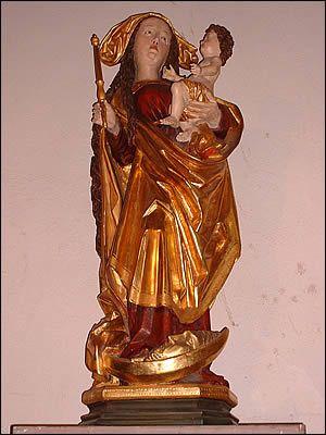 Vierge à l'Enfant, de Dusenbach – Église Saint-Grégoire, Ribeauvillé, Haut-Rhin (France)