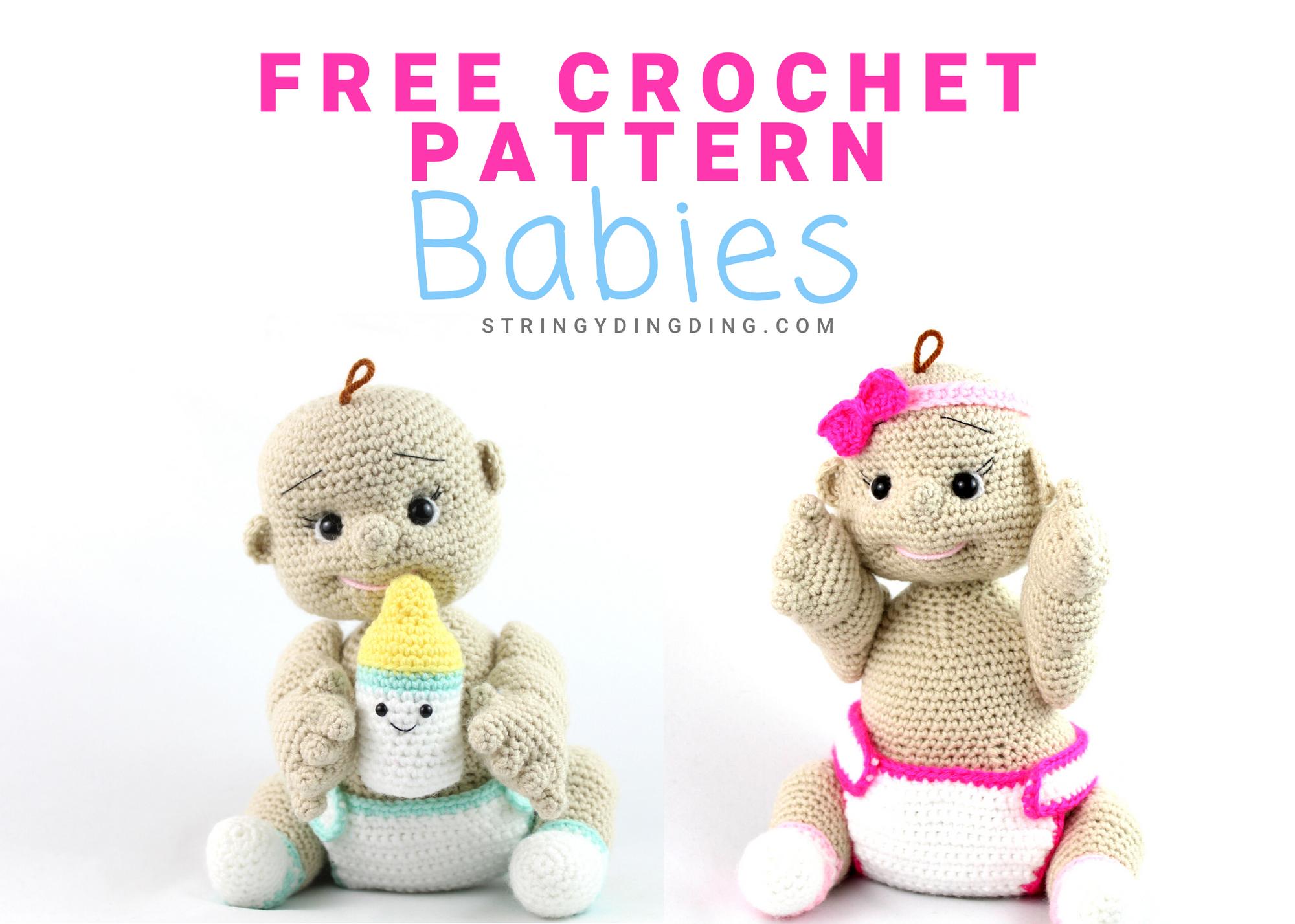 Free Baby Doll Amigurumi Crochet Pattern #babydoll