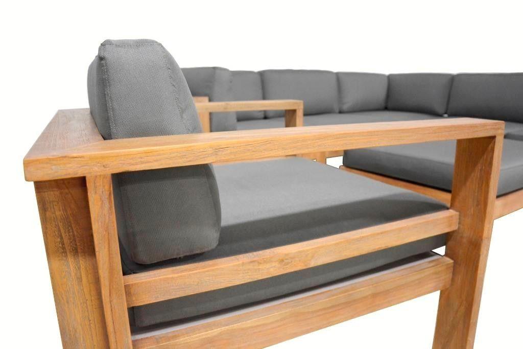 Loungebank hoekbank loungeset tuin bank op maat gemaakt hout te