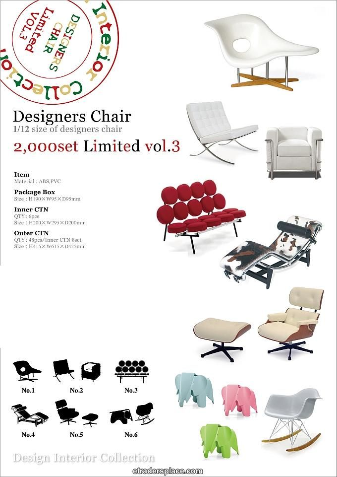 Reac Miniature Designer Chairs Limited Edition Vol 3 With Images