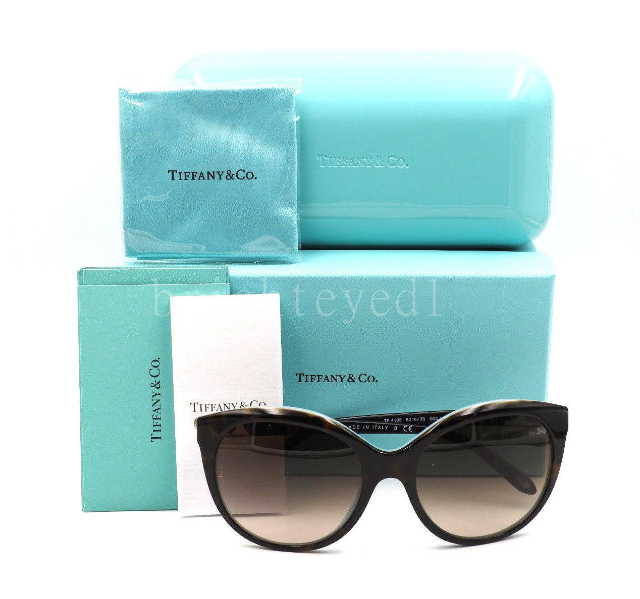 62de4783b3b Authentic TIFFANY   CO. Return to Love Tortoise Sunglasses TF 4133 - 82163B  NEW 4