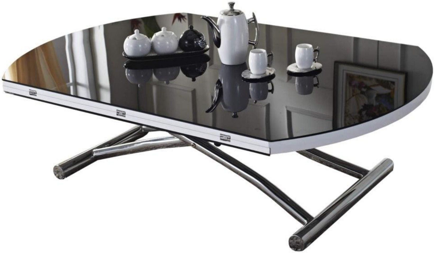 Table Basse Relevable Et Extensible Verre Trempe Noir Alexandra Table Basse Relevable Table Basse Table Basse Ronde