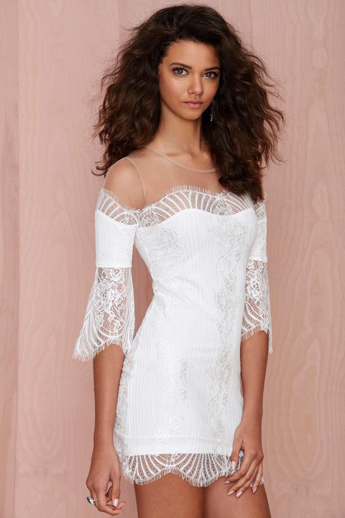 For love and lemons belle lace mini dress white shop dresses at