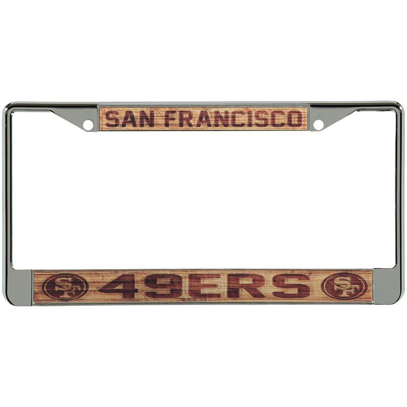 San Francisco 49ers Wood Design Acrylic License Plate Frame   San ...