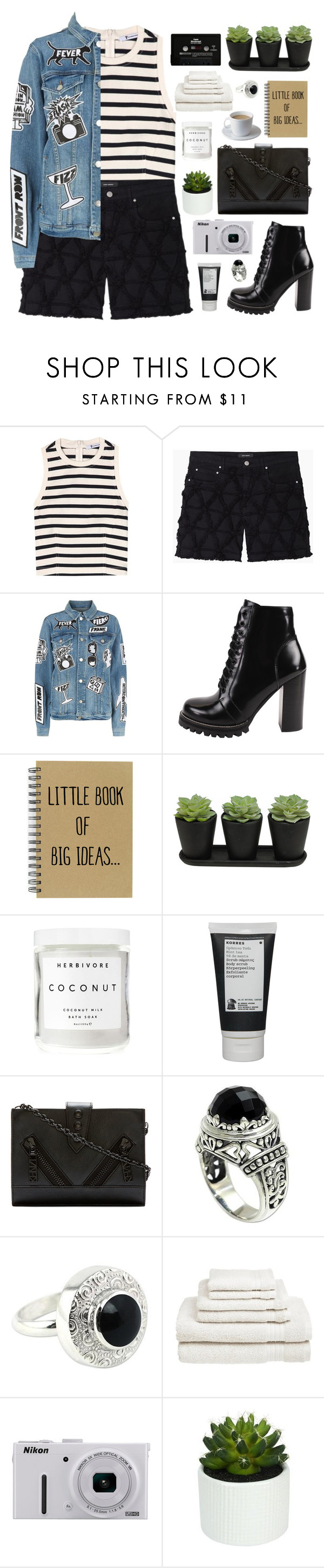 """""""Sin título #2594"""" by liliblue ❤ liked on Polyvore featuring T By Alexander Wang, Isabel Marant, Frame, Jeffrey Campbell, Herbivore, Korres, Kenzo, NOVICA, CASSETTE and Welspun"""