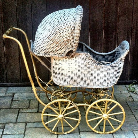 Baby carriage buggy 1800 39 s antique decoration for room for Baby carriage decoration