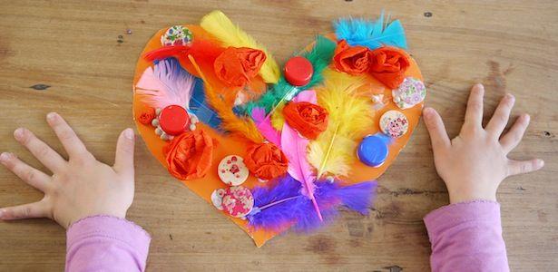 Last Minute Geschenk Zum Muttertag · Basteln Mit Kindern ValentinstagBasteln  ...