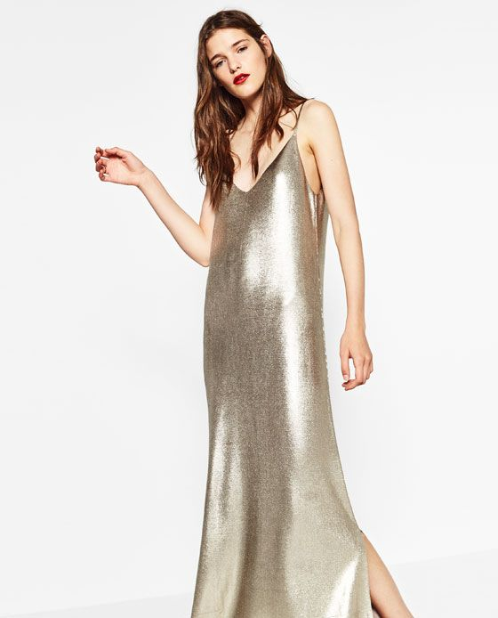 3c65ee2f09 Image 4 of LONG SHINY DRESS from Zara | Editor Wish List in 2019 ...