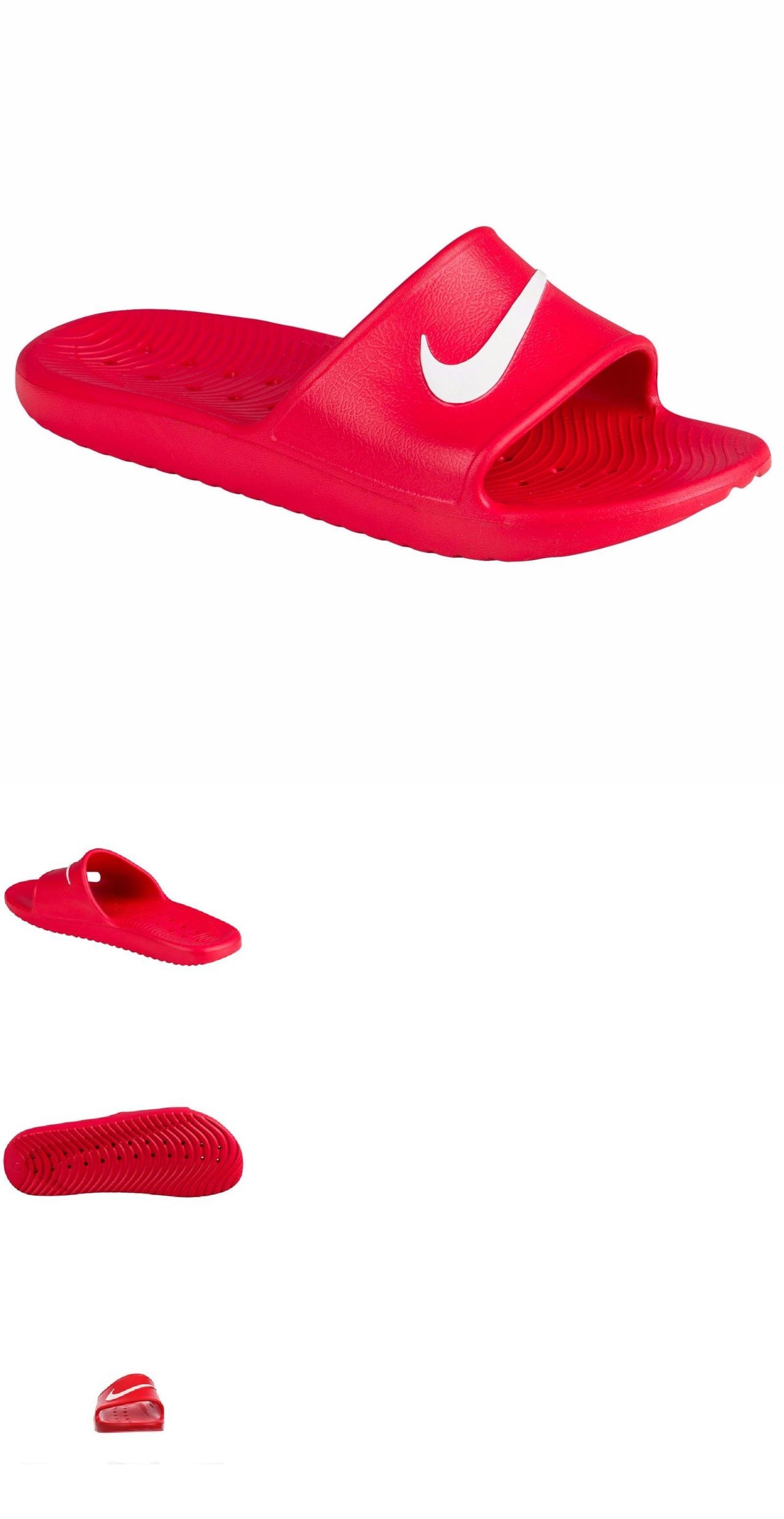 34c5bd94e Sandals 11504  Nike Kawa Shower Men S Slide Red White Slipper 832528 600 Free  Shipping -  BUY IT NOW ONLY   27.95 on  eBay  sandals  shower  slide  white  ...