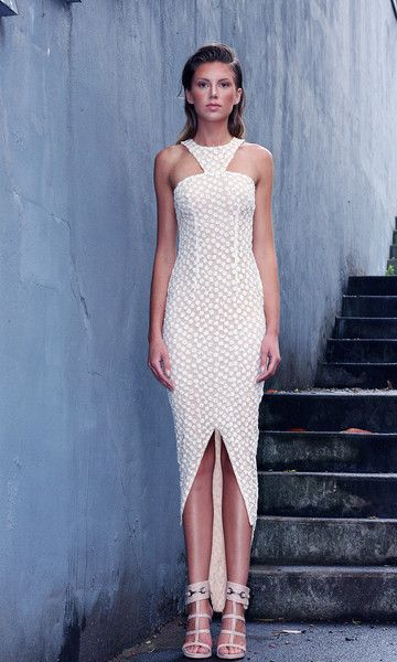 Garden Of Lace Tail Dress White
