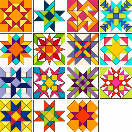 Ornate Ohio Stars #starquiltblocks