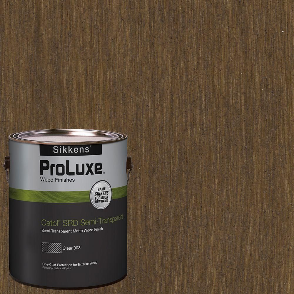 Ppg Proluxe 1 Gal Hdg St 214 Hickory Srd Exterior Semi Transparent Matte Wood Finish Hdgsrd St500 214 01 The Home Depot Staining Wood Exterior Wood Wood Deck Stain