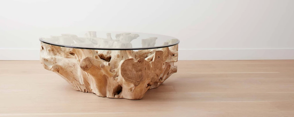 Bleached teak root round coffee tables in 2020 | Round ...