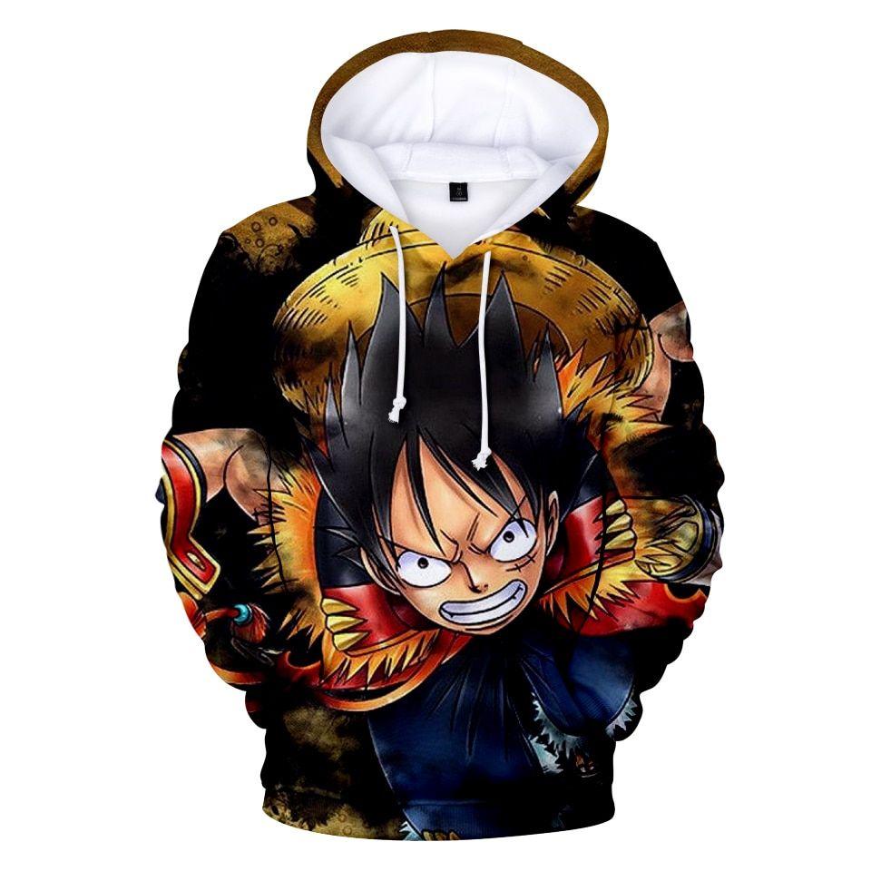 One piece anime hoodies 3d print in 2020 anime hoodie