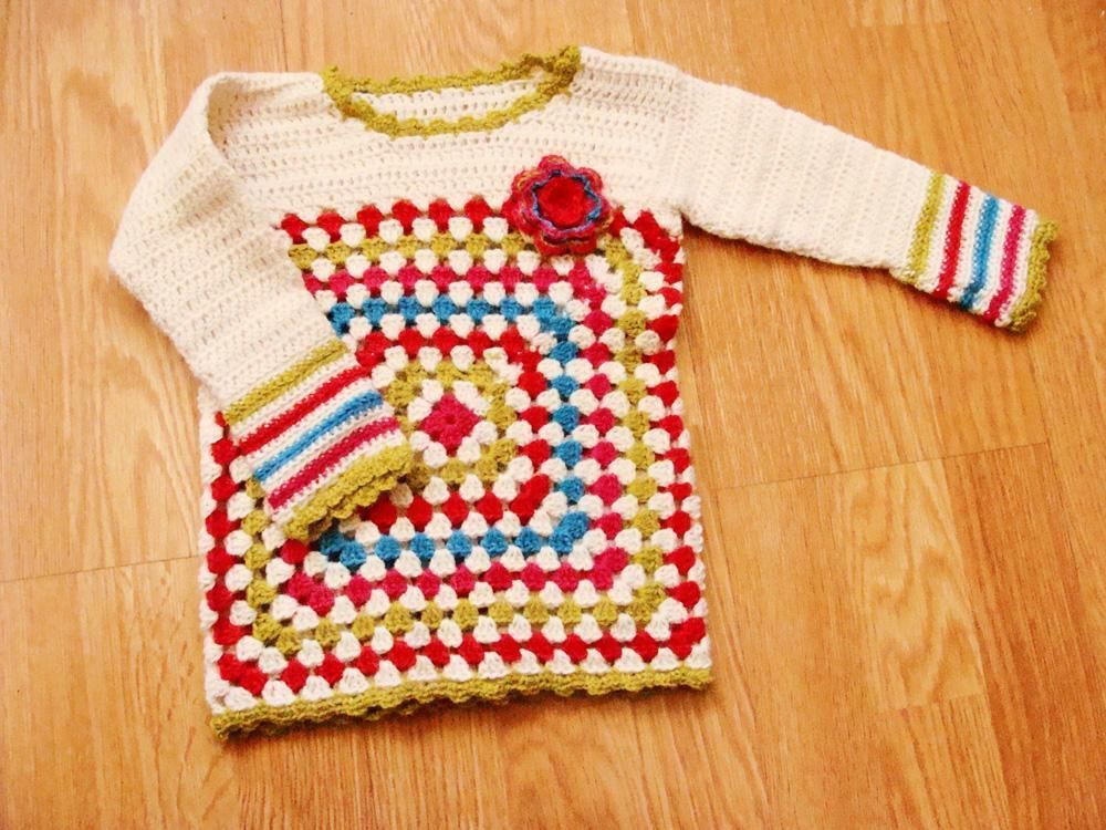 5 Free Crochet Sweater Patterns For Beginners Granny Squares