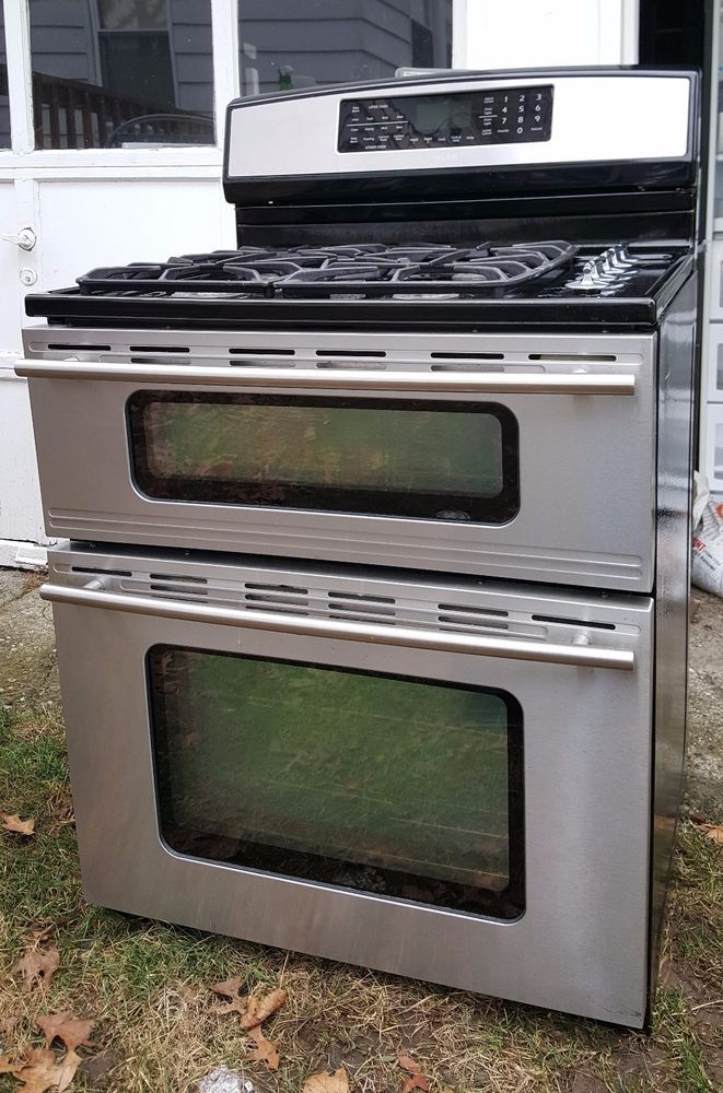 Jenn Air 30 Double Oven Free Standing Dual Fuel Range In Stainless Steel Jdr8 Jennair