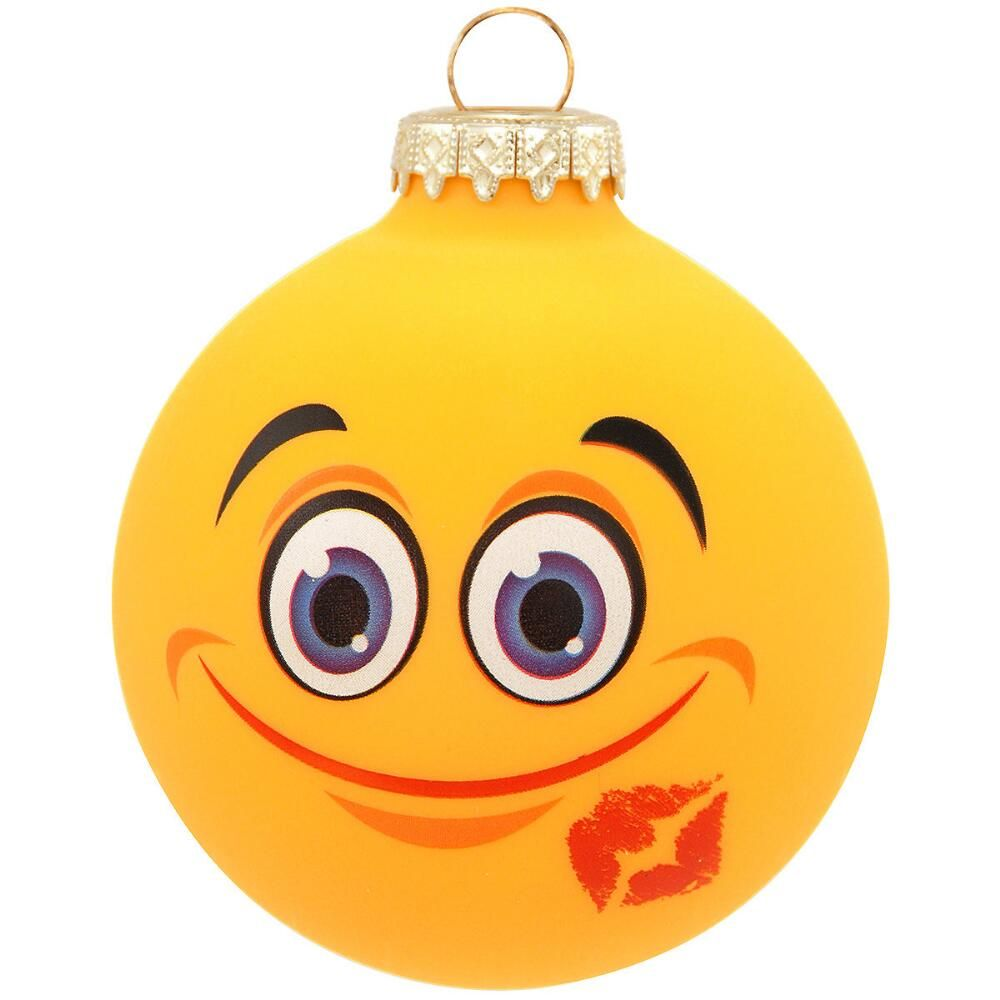 Pin By Jamie Moore Kozich On Holiday Smileys In 2020 Kiss Emoji Personalized Christmas Ornaments Emoji