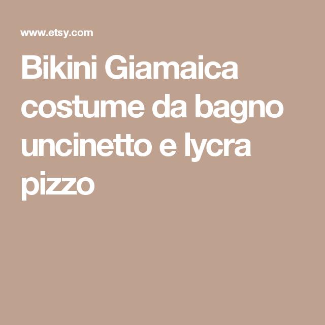 C E Un Crochet Bikini Jamaica Costume Da Bagno Crochet E Lycra