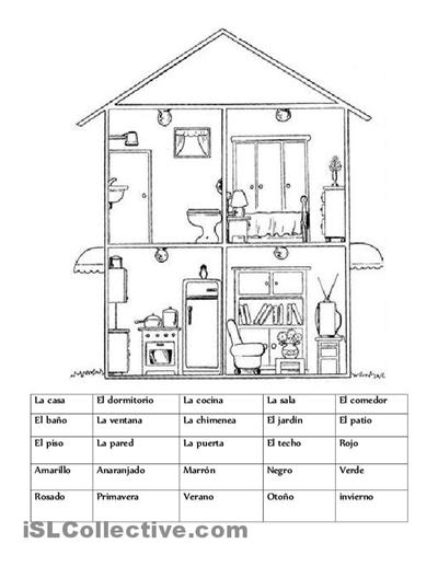 La casa trabajos - Hojas de trabajo de ELE gratuitas | spanish ...