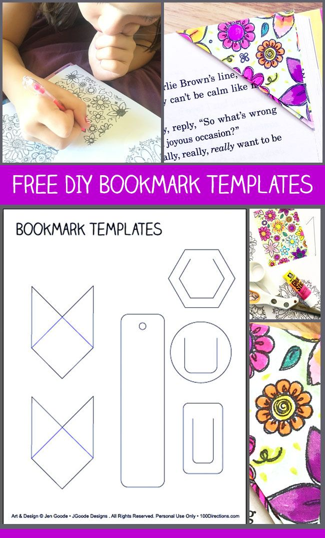 free paper bookmark template kids bookmarks bookmark template