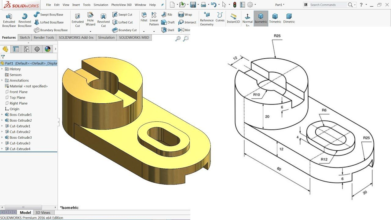 SolidWorks Tutorial for beginners Exercise 41 - YouTube | Solidworks