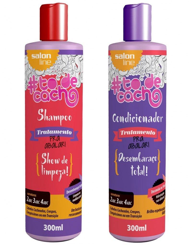 2fd4a1b6f Shampoo e Condicionador - Tô de Cacho - Salon Line Shampoo Cabelo Cacheado