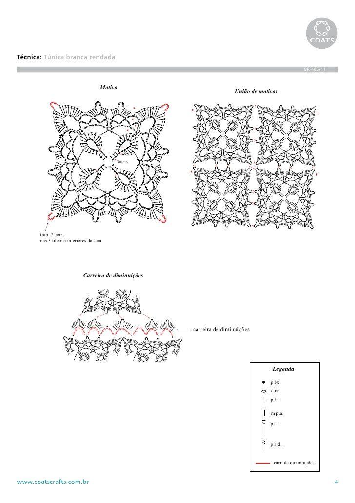 Motivos en crochet con tramados increíbles dan ese toque tan ...
