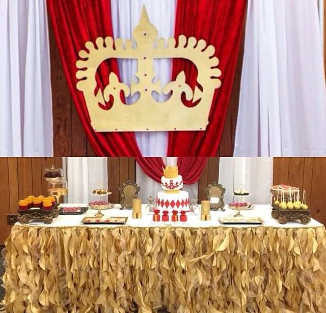 Little Prince Themed Birthday Party! #red #gold