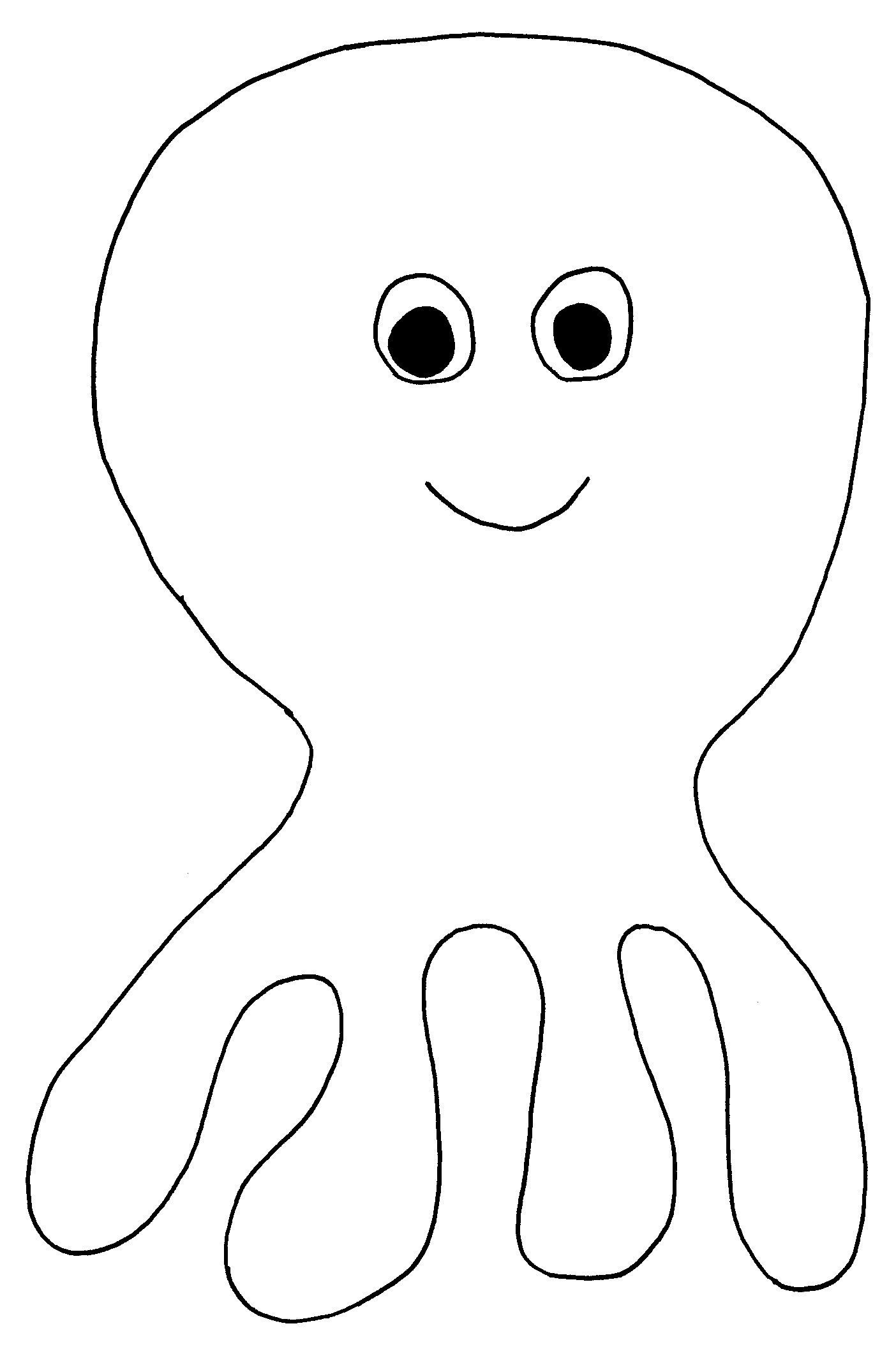 Octopus template | Skool | Pinterest | Starfish template and Template