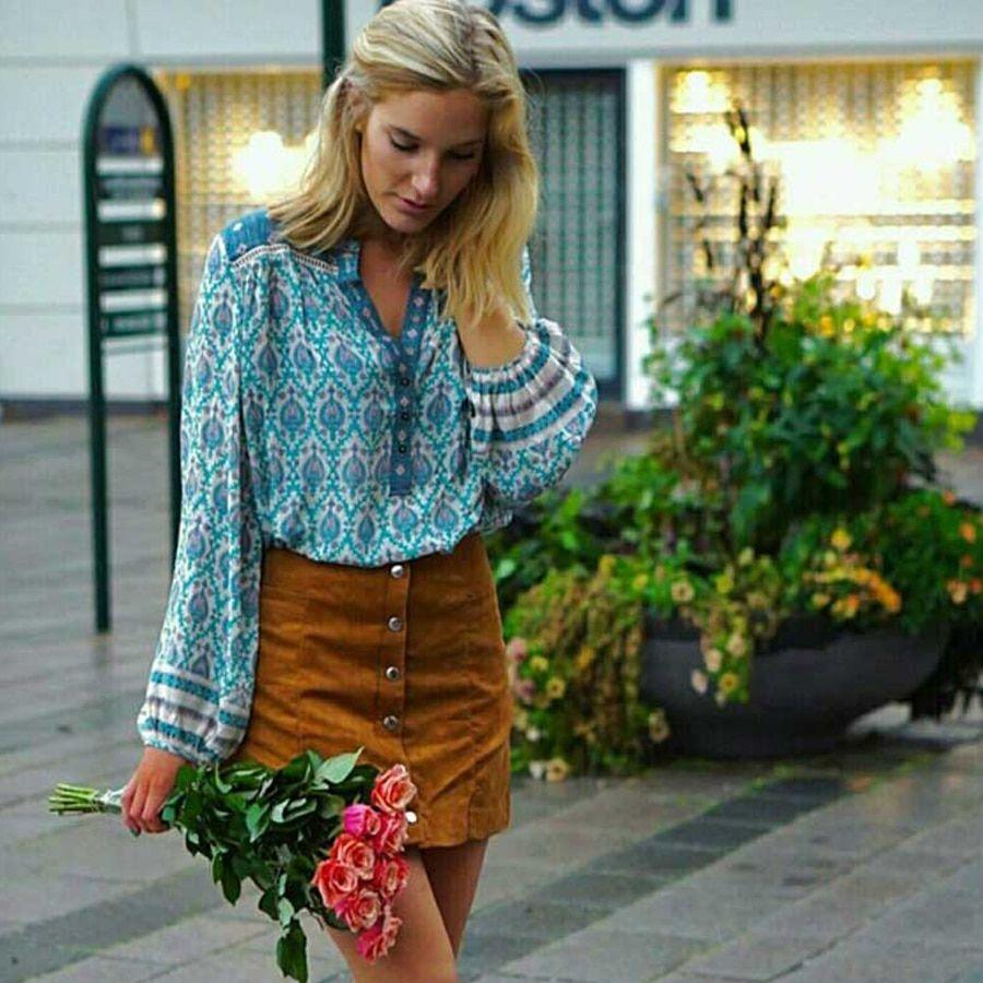 62837d30a5b87 Teelynn Violet Boho blouse shirts 2018 spring floral print rayon blouses  long Sleeve Bohemia womens tops and blouses Camisas