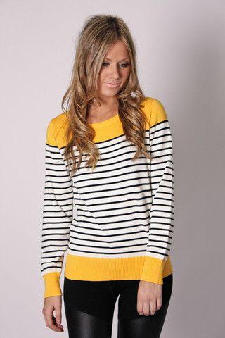 stripes. yellow.