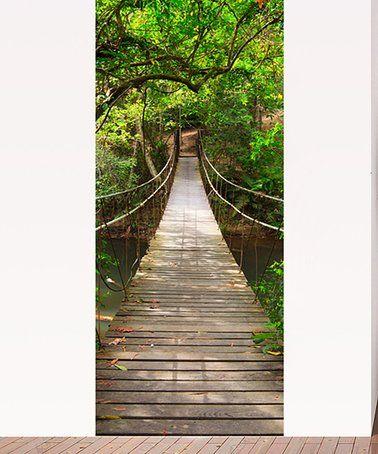 Loving this Jungle Bridge Door Mural Decal Set on #zulily