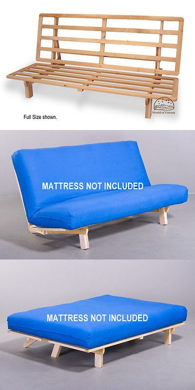 Sofa Bed Futons Frames And Covers 131579 Futon Frame Solid Wood New Bi Fold