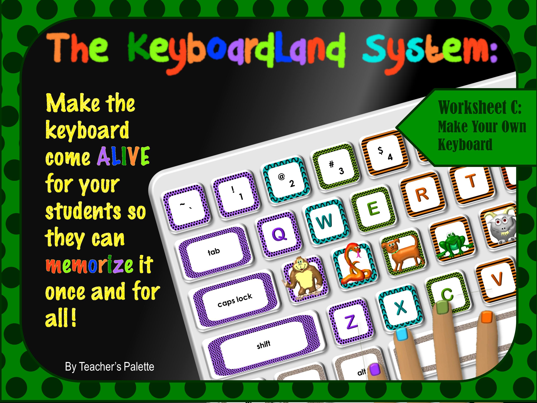 Keyboarding Worksheet C Make Your Own Keyboard Mnemonic
