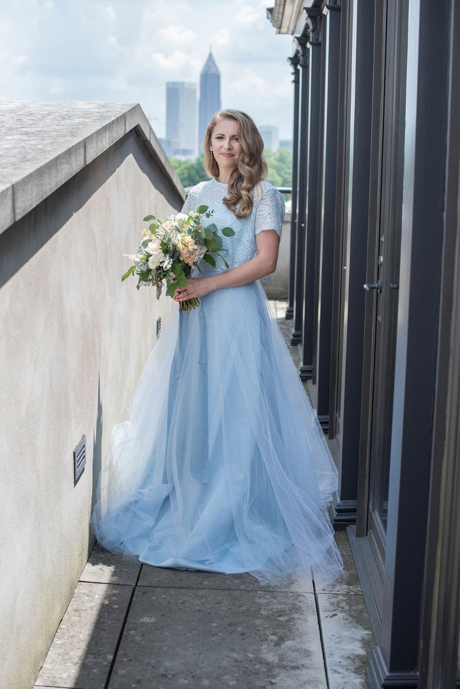 How To Have A Dusty Blue Wedding During Any Season Wedding Dress
