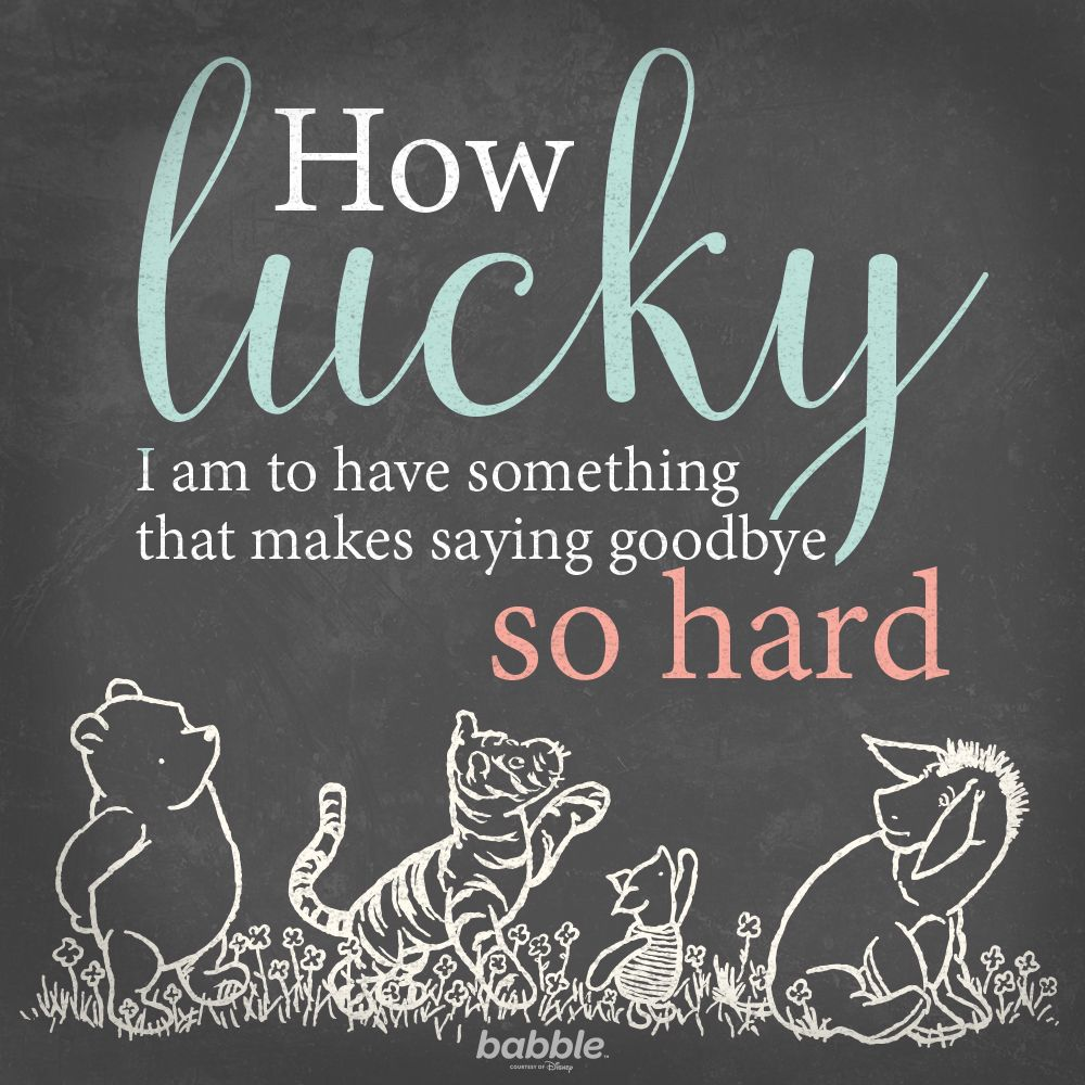 Pooh Quote About Saying Goodbye: 9 Winnie The Pooh Quotes We Love